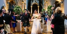 Enchanting Valentine's Day wedding in the heart of Edinburgh