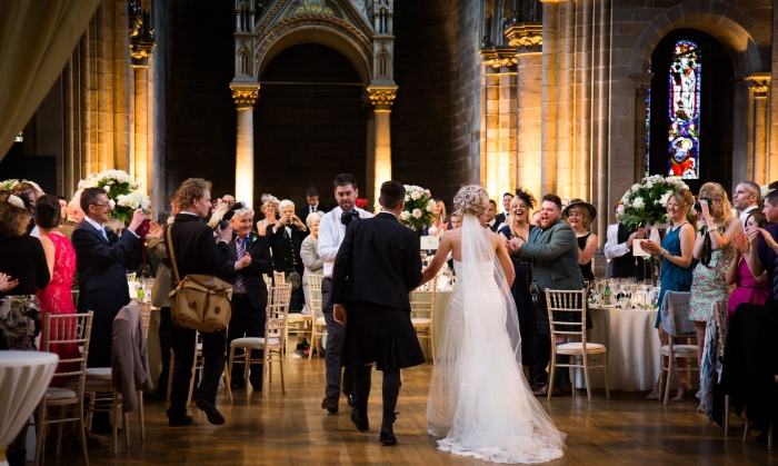 Elegant white spring wedding Edinburgh - photo credit ABM Photography