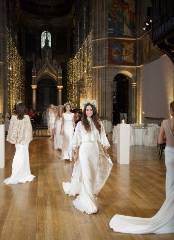 Fashion show at Mansfield Traquair - launch of the new couture bridal label Oscar Lili, photo credit Blue Sky Photography