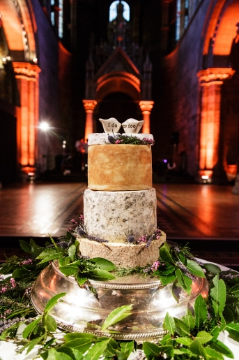 Cheese wedding cake - photo credit Blue Sky Photography