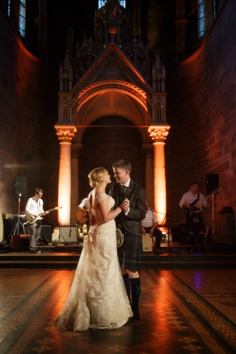 First dance as a married couple - wedding dance - photo credit Blue Sky Photography