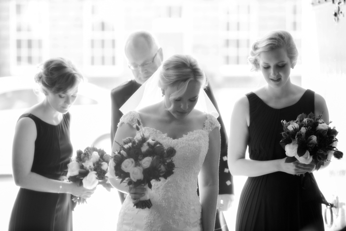 Minutes before the wedding ceremony - photo credit Blue Sky Photography