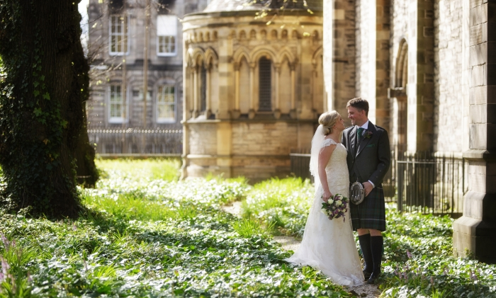 strolling along the magical gardens of Mansfield Traquair - photo credit Blue Sky Photography