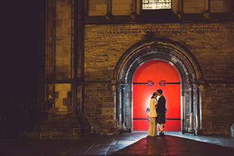 Bride and groom at Mansfield Traquair in Edinburgh. Photo credit: Kirsty Stroma Photography