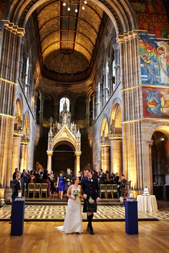 just married - spring wedding at Mansfield Traquair