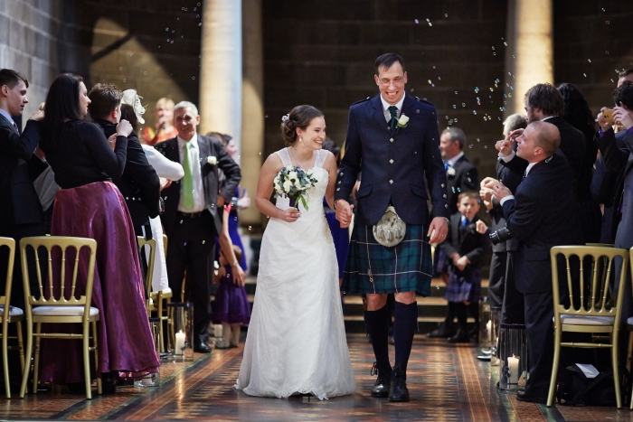 Just married - early spring wedding at the Signet Library